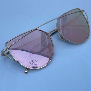 Women Sunglasses Fashion Eye Wear Gold Tone Metal